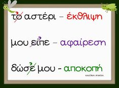 Greek Language, Speech And Language, School Lessons, Lessons For Kids, Primary School, Elementary Schools, Learn Greek, Preschool Education, Teaching Methods