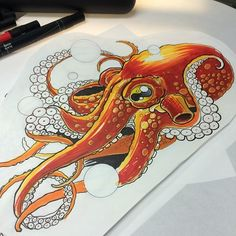 ~ Drawing Octopus ~