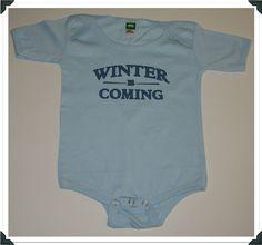 Game of Thrones-Winter is Coming Baby Onesies in Multiple Colors