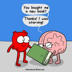 """10 With Tom 10 Questions in 10 Minutes I'm a big fan of Nick Seluk and his daily comic strip, """"The Awkward Yeti."""" The comic is often a clever com. Akward Yeti, The Awkward Yeti, Funny Cartoons, Funny Comics, Funny Memes, Happy Comics, I Love Books, New Books, Heart And Brain Comic"""