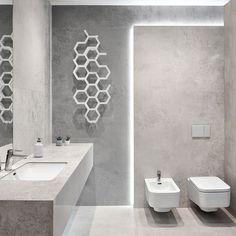 Aranżacja Torano. Wyraź siebie poprzez uniwersalną biel, modną szarość i kojący beż. Prosto i bez pytań. Plus oryginalny Hex ogrzewający to klimatyczne wnętrze.  #hex #hexagon #bathroom #łazienka #salonyhoff #torano #white #grey #beige #realphoto #ilovehoff Beige Bathroom, Small Bathroom, Grey And Beige, Restaurant Design, Sweet Home, Interior Design, Mirror, Loft, Gallery