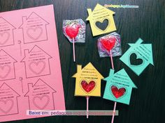 Valentine's Day Crafts For Kids, Art For Kids, Diy And Crafts, Paper Crafts, Valentine Day Cards, Valentines Diy, Diy Handbag, Halloween Food For Party, Kids Church
