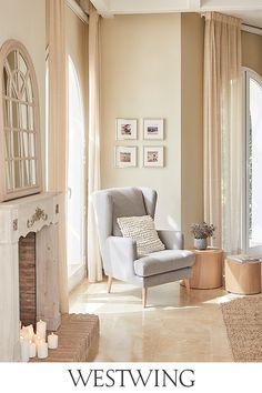 Corner Reading Nooks, House Doctor, Interior And Exterior, Oversized Mirror, Sweet Home, Entryway, Curtains, Room, Furniture
