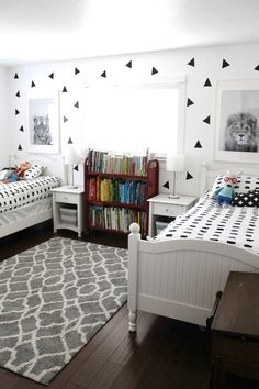 Shared Bedroom Ideas for Boys - Happy Home Fairy Shared Bedroom Ideas for Boys . Shared Bedroom Ideas for Boys – Happy Home Fairy Shared Bedroom Ideas for Boys – Happy Home Fa Preteen Boys Bedroom, Boy And Girl Shared Bedroom, Shared Boys Rooms, Boy Toddler Bedroom, Boys Bedroom Decor, Shared Bedrooms, Boy Room, Fairy Bedroom, Kids Rooms