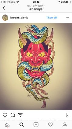 Oni Tattoo, Bmth Tattoo, Hannya Maske Tattoo, Hanya Tattoo, Mask Tattoo, Skull Tattoos, Body Art Tattoos, Mask Draw, Tattoo Mascara