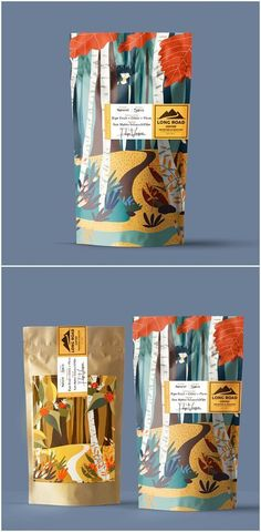 Branding, Packaging Design and Illustration for California Organic Coffee Design Agency: Nacho Huizar by LATTE co. Brand / Project Name: Long Road Coffee Location: Mexico Market Country: United States America Category: World Brand Packaging Design Society Food Packaging Design, Coffee Packaging, Coffee Branding, Brand Packaging, Organic Packaging, Chocolate Packaging, Packaging Dielines, Fruit Packaging, Cool Packaging