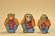 Three Wise Monkeys, Ancient Japanese Art, Wise One, See No Evil, Whittling, African Art, Mystic, Third, Creatures
