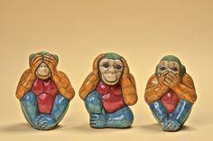 African Artisans Gallery - Three Wise Monkeys, EUR60.13 (http://african-artisans.co.uk/three-wise-monkeys/)