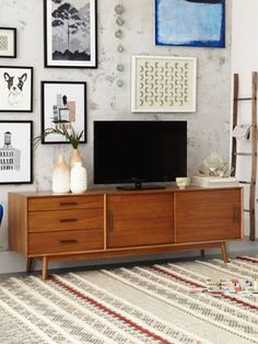 Buy west elm Mid Century Media Console from our Cabinets range at John  Lewis California mid century modern   bohemian living room   LIVING  . Midcentury Living Room. Home Design Ideas