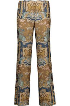 ETRO Cropped jacquard straight-leg pants. #etro #cloth #pants