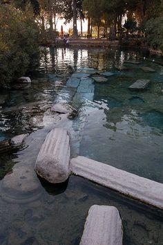 Thermal pool in Pamukkale