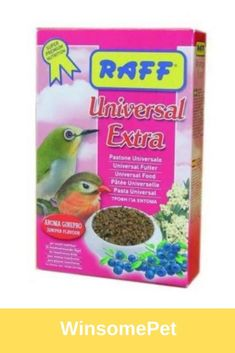 RAFF Universal Extra contains meat meal and is recommended as a daily feed for softbilled insectivorous birds. Conure, Bird Food, Meat Recipes, Protein, Birds, Japanese, Meals, Japanese Language, Meal