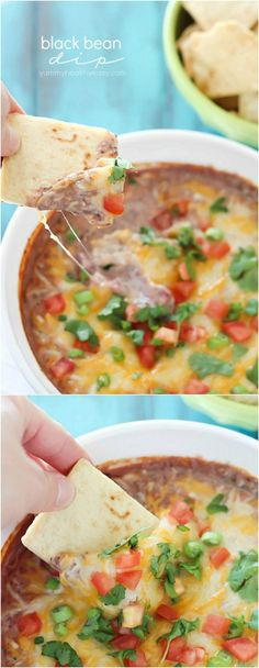 Skinny Black Bean Dip #gameday #appetizer