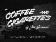 "Movie Titles - ""Coffee and Cigarettes""   Designer: Lorenzo Cappelli - dribbble.com/..."