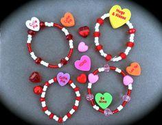 CHILDREN'S VALENTINE BRACELETS  Valentines by WhimsicalMystical