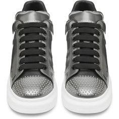 Alexander McQueen Mens Oversized Low Top Sneaker (1,105 CAD) ❤ liked on Polyvore featuring men's fashion, men's shoes, men's sneakers, mens shoes, men's low top sneakers, mens low profile sneakers, men's low top shoes and alexander mcqueen mens shoes