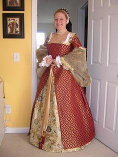 Red Tudor Gown - Philippa's Wardrobe