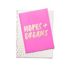 good ideas notebook set - petite party dots + hopes + dreams