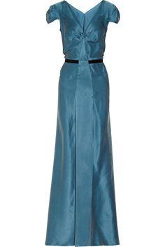 Roland Mouret Carbury washed-silk dress