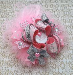 Princess Pretty In Pink Over The Top Boutique Large Hair Bow
