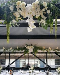 How gorgeous is this floral installation by Living Bloom at Doltone House Jones Bay Wharf!?  #sopretty #flowers #weddingflowers
