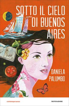 Olaf Hajek, Sotto il Cielo di Buenos Aires Book Cover for Italian Edition of Daniela Palumbos Novel