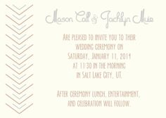 It goes on and on and on at lovelyyellowhouse.com! Find wedding invitations here.