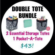 #essentialstoragetote #31summer - ONE BUNDLE WAY TO GET 2 ESSENTIAL TOTES.  BUY ONE FOR 28.00 AND THE POCKET A TOTOE FOR 10.00 GET 2ND ESS. TOTE FOR JUST 5.00.