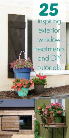 Dress up your windows for spring! 25 Inspiring Exterior Window Treatments and DIY Tutorials | Remodelaholic.com