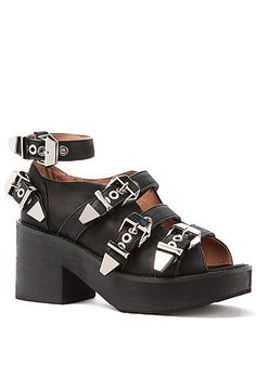 78169aafc Jeffrey Campbell Shoe Nextrane in Black and Silver