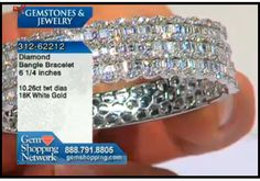Stunning diamond bracelet bangle with over 10cts of diamonds in 18K white gold