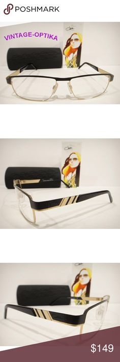 b7d2365399 CAZAL 7033 EYEGLASSES BLACK GOLD AUTHENTIC NEW These are 100% Genuine