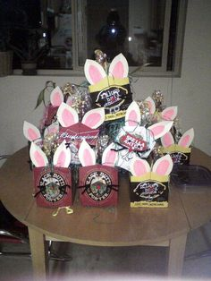 Have an Easter Beer Hunt. The hunting baskets are the empty beer containers. Either everyone finds 6 to fill up their pack and then they are done done, or have a free for all and then the finder delegates who has to drink each beer they find.