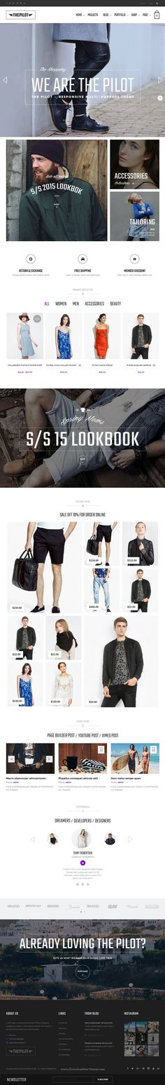 The Pilot is woderful premium multipurpose #Theme for for business, portfolio, eCommerce store, online shopping mall, #supermarket and groceries #website. Download Now!