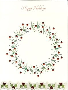 Watercolor Christmas Cards, Christmas Drawing, Diy Christmas Cards, Christmas Paintings, Xmas Cards, Christmas Crafts, Christmas Baubles, Christmas Embroidery Patterns, Embroidery Cards