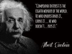 albert einstein compounding interest quote