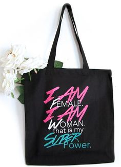 "Novelty Couples Tote Bag /""Wifey/"" Unmarried Slogan Wife Material Girlfriend"