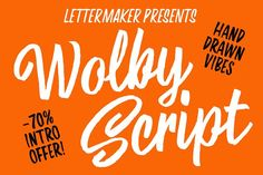 Wolby Script Intro offer -70% by LetterMaker on @creativemarket