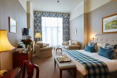 Beautiful blue decor in one of our bedrooms. 5 star right down to the finishing touches.