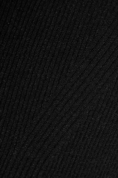 Barbara Casasola - Cold-shoulder Ribbed Stretch-knit Midi Dress - Black - IT