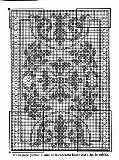 Filet Crochet Charts, Crochet Doilies, Diy And Crafts, Crochet Patterns, Cross Stitch, Butterfly, Embroidery, Knitting, Crochet Carpet