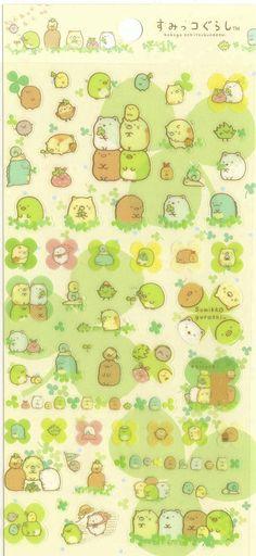 Kawaii Japan Sticker Sheet Assort: Sumikko Gurashi Character Picnic
