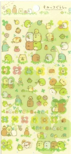 Kawaii Japan Sticker Sheet Assort: Sumikko Gurashi Character Picnic