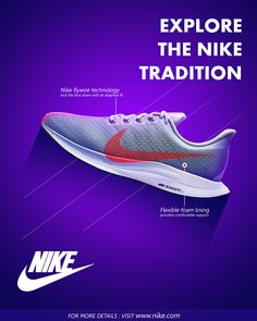Social Advertising, Advertising Design, Anuncio Nike, Nike Poster, Nike Design, Shoes Ads, Creative Shoes, Social Media Design, Blue Shoes