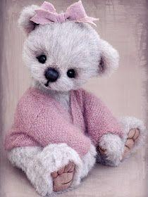 Three O'Clock Bears: Lola Rose...a pretty alpaca bear available
