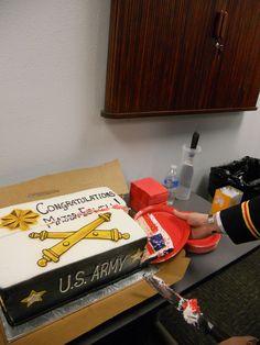field artillery promotion cake!