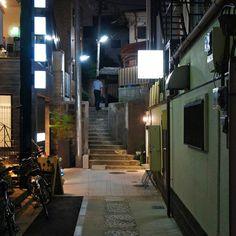 夜散歩のススメ「神楽坂S字階段路地」 東京都新宿区