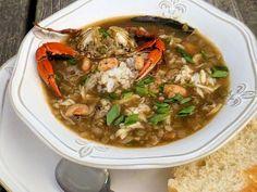 From the Marsh into the Pot {Crab and Shrimp Gumbo} Shrimp Gumbo, Seafood Gumbo, Seafood Dishes, Creole Recipes, Cajun Recipes, Seafood Stock, Crab Stuffed Shrimp, Jambalaya Recipe, Cooking Games