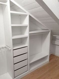 Create More Space in Your Homes With Ikea Pax Closet Bedroom Storage Ideas For Clothes, Bedroom Storage For Small Rooms, Attic Storage, Closet Storage, Closet Ideas, Closet Organization, Organization Ideas, Bedroom Small, Bedroom Green