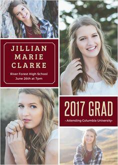 multi photo graduation announcement - Graduation Announcement Cards